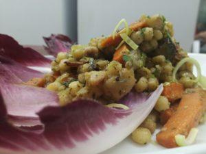 insalata di fregola con verdure