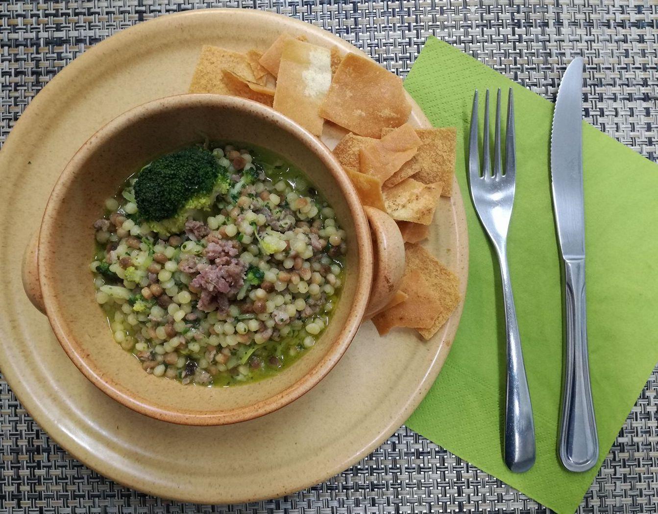 fregola broccoli e salsiccia fresca
