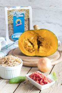 ingredienti ricetta malloreddus integrali con zucca e peperoncino piccante