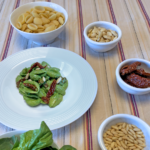 Conchiglie con il pesto di spinaci