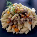 Is Malloreddus con ragù bianco di salsiccia