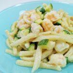 Is Maccarronis de Busa con zucchine e gamberetti